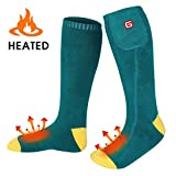 GLOBAL VASION Rechargeable Battery Heated Socks Foot Warmers