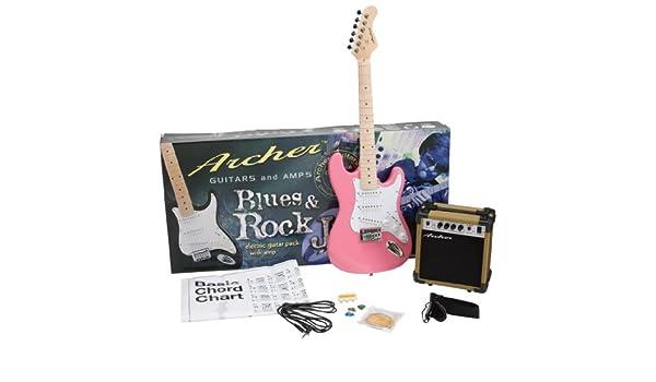 Archer ss10jrpakpk SS10 Blues y Rock Jr. Guitarra eléctrica ...