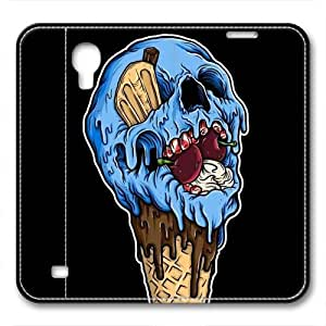 iCustomonline Ice Cream Skull Protective Back Leather for Samsung Galaxy S4 I9500 Case Cover