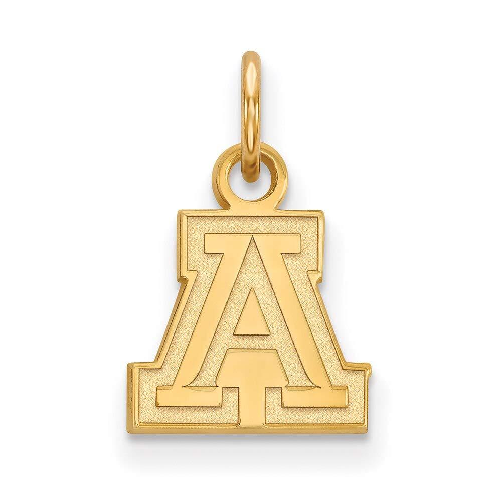Lex /& Lu LogoArt 14k Yellow Gold University of Arizona XS Pendant LAL135013