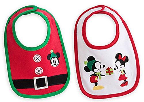 (Disney Baby Mickey and Minnie Mouse Holiday Christmas Bib)