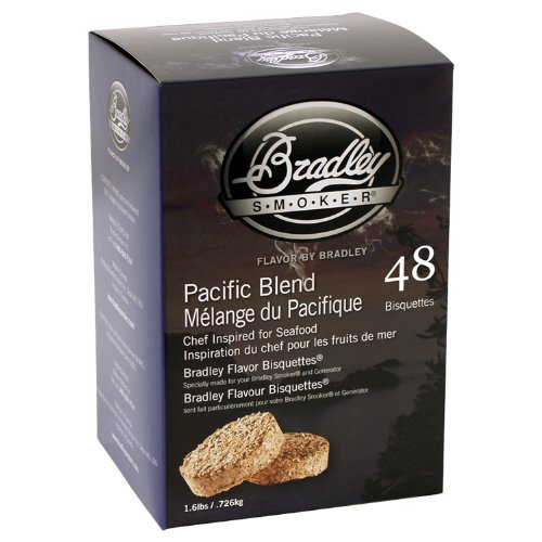 (Bradley Smokers Pacific Blend Bisquettes (2.75 x 6.875 x 9.25-Inch, Pack of 48) )
