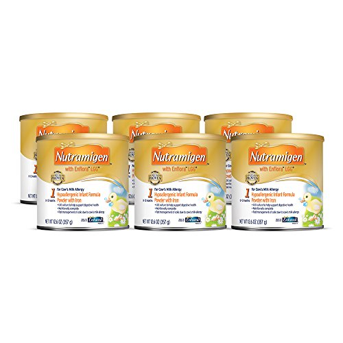 Nutramigen with Enflora LGG for Cow's Milk Allergy Powder can, for Babies 0-12 Months, 12.6-Ounce Cans (Case of 6)