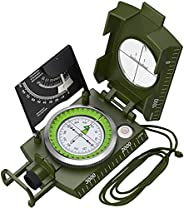 Proster Professional Camouflage Compass Metal Waterproof IP65 Compass Sighting Clinometer with Carry Bag for C