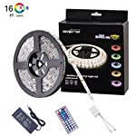 Led Strip Light Waterproof Flexible Color Changing RGB SMD5050 LED Strip Light Kit with 44 Keys IR Remote Controller and Power Supply