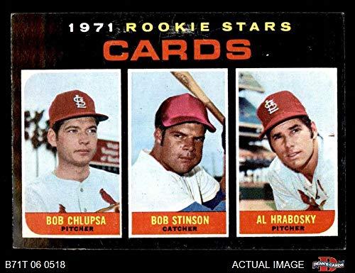 1971 Topps # 594 Cardinals Rookies Al Hrabosky/Bob Chiupsa/Bob Stinson St. Louis Cardinals (Baseball Card) Dean's Cards 5 - EX Cardinals Al Hrabosky St Louis