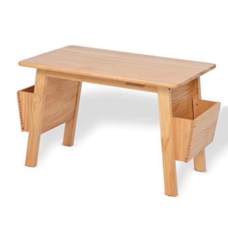 Amazon.com: ZH Mesa infantil de madera maciza con ...