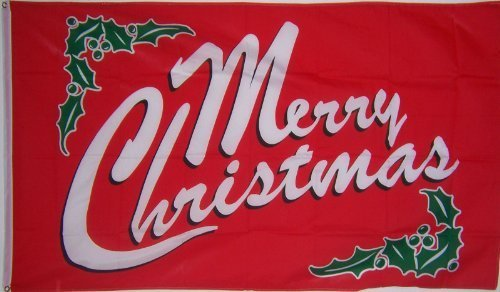 3Ftx5 ROT Merry Christmas Decoration Garden Holy Flag by 3Ftx5 ROT Merry Christmas Decoration Garden Holy Flag ...