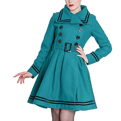 Hell-Bunny-Teal-Military-Double-Breasted-Millie-Nautical-Jacket-US-4XS-12XL