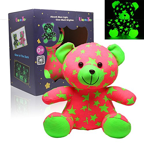 UnyeeToy Star Bear | Glow-without-Batteries Baby Bedtime Crib Toy Glow-In-The-Dark Luminous Stuffed Animal Toy Gift (Sister)
