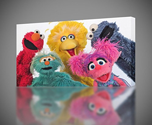 Sesame Street Elmo CANVAS PRINT Home Wall Decor Giclee Art Poster CA356, Small