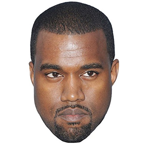 Kanye West Celebrity Mask, Cardboard Face and Fancy Dress -