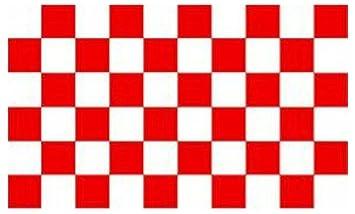 Bandiera a scacchi rossa e bianca.: Amazon.it: Casa e cucina