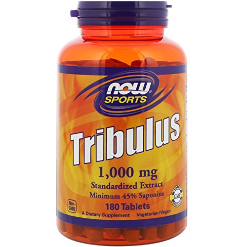 NOW Foods Tribulus 1000mg 45% 180 Tablets, 2 Pack