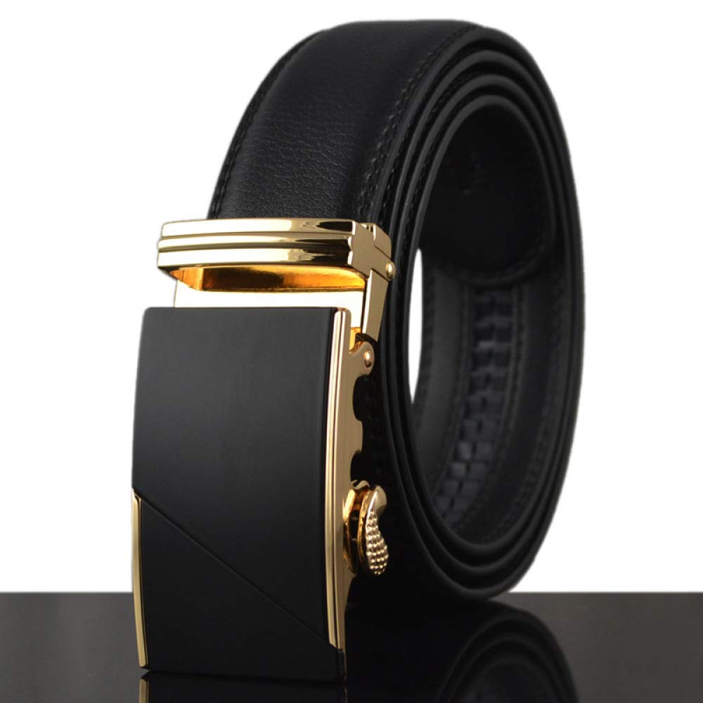 DENGDAI Mens Casual Belt Belt Leather Mens Belt Length 100-135cm