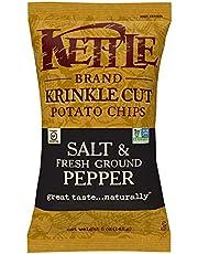 Kettle Chips Salt and Freshground Pepper, Krinkle-Cut, 142g