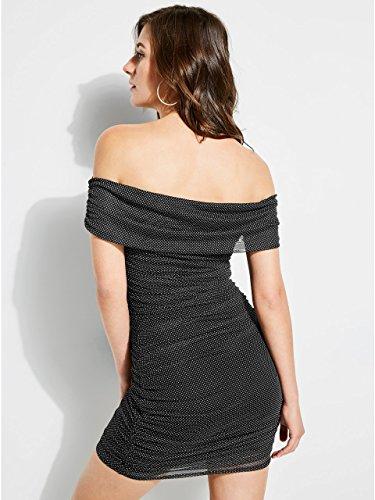 Dress Shoulder Jet The Dot Multi Black Guess Off Polka Women's AwRqFYxt