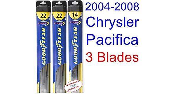 2004 - 2008 Chrysler Pacifica hoja de limpiaparabrisas de repuesto Set/Kit (Goodyear limpiaparabrisas blades-hybrid) (2005,2006,2007): Amazon.es: Coche y ...