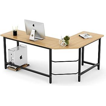Amazon Com Manufactured Wood Salina L Shape Computer Desk
