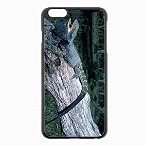 iPhone 6 Plus Black Hardshell Case 5.5inch - monitor lizard lizard tree grass Desin Images Protector Back Cover