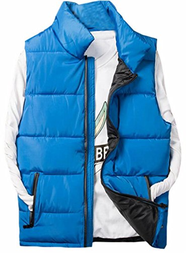 Vest Blue Quilted Puffer Up Zip Men's Thickening Brd Suede Performance UK Hot w4qHvPA