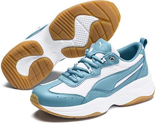 - PUMA Women's Cilia Sneaker, Milky Blue White Silver-Gum, 10 M US