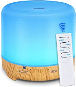 K KABYBO 200ml USB Humidifier Mini Essential Oil Aroma Diffuser with Remote Control, Timer, Waterless Auto Shut-Off and 7 LED Light Colors for Home Bedroom Office Yoga Spa Baby Room (White)