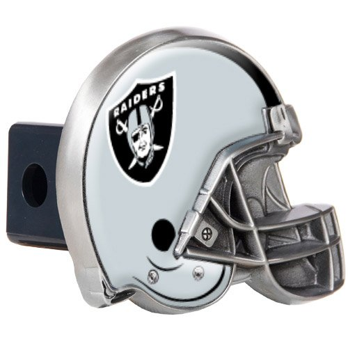 Nfl Raiders Helmet (NFL Oakland Raiders Helmet Trailer Hitch Cover)