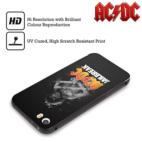 Officiel AC/DC ACDC Évasion De Prison Titres De Chanson Noir Étui Coque Aluminium Bumper Slider pour Apple iPhone 5 / 5s / SE