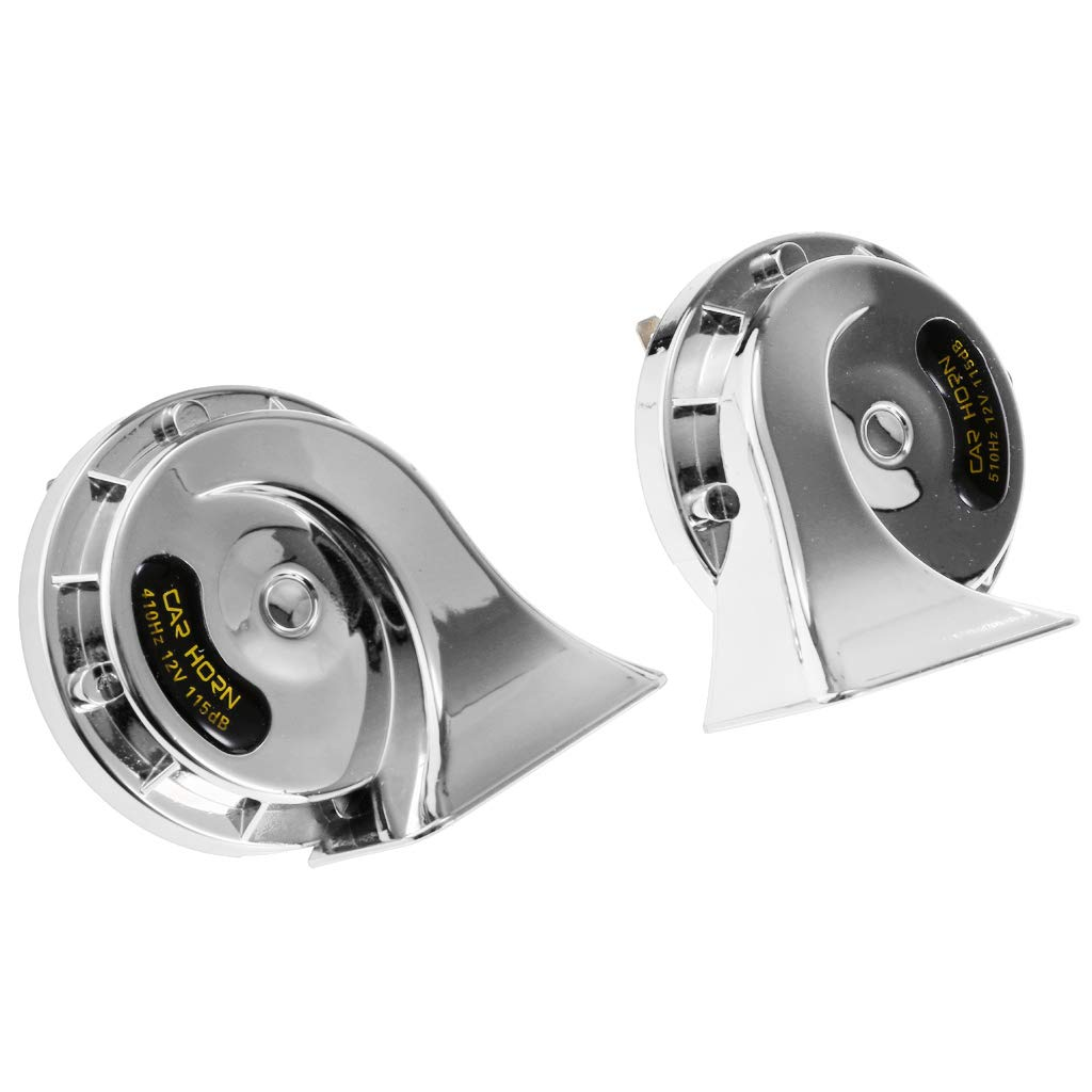 D DOLITY 2 Pieces Basin Type Speaker Auto Car Universal Used 4A Dual-Tone Snail Horn
