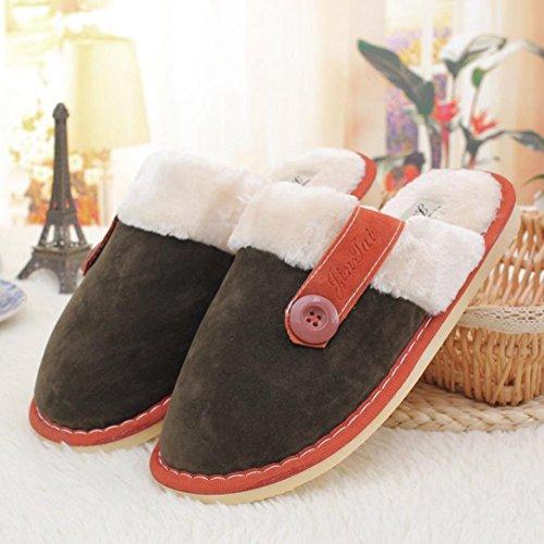 Pantofole Da Casa Euone Donna / Uomo Morbido Caldo Cotone Coperta Pantofole Antiscivolo Scarpe Da Casa In Bronzo