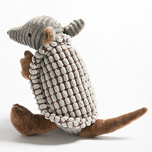 Hollypet Squeaky Armadillo Pet Plush Dog Chew Toy ()