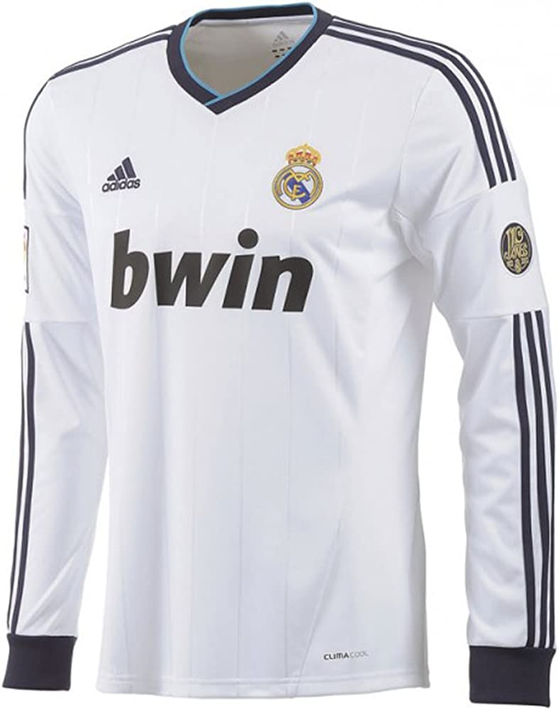 adidas Real Madrid Long Sleeve Home Soccer Stadium Jersey 2012-13 (2XL): Amazon.es: Ropa y accesorios