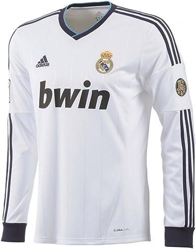 adidas Real Madrid Long Sleeve Home Soccer Stadium Jersey 2012-13 (2XL): Amazon.es: Ropa y accesorios