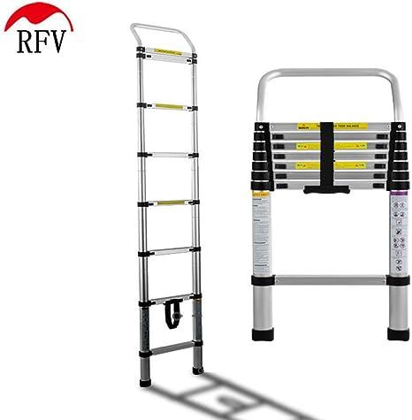 QAS Thicken Lift, Escalera de aleación de Aluminio, Escalera de bambú portátil de Uso doméstico, Escalera de extensión multifunción telescópica, Adecuada para el hogar Decoración al Null/Plata /: Amazon.es: Deportes y aire
