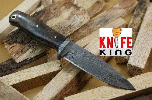 Knife King Helmand-1 Damascus Handmade Hunting Knife. Comes with a sheath.