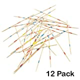 Wooden Pick Up Sticks Game - 12 Pack With Game Instructions - Loads Of Fun – By Kidsco