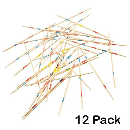 Wooden Pick Up Sticks Game - 12 Pack With Game Instructions - Loads Of Fun – By Kidsco by Kidsco