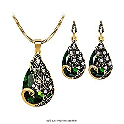 Women's Vintage Wedding Peacock Jewelry Set