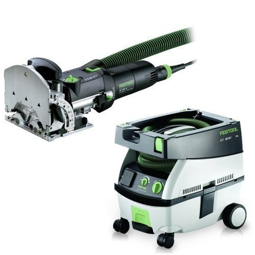 Festool PM574432 Domino Mortise and Tenon Joiner Set with CT MINI 2.6 Gallon Mobile Dust (Mini Dust Extractor Package)