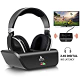 Digital Wireless Over-Ear Headphones for TV,Artiste 2.4GHz UHF/RF for TV Listening,Rechargeable 20 Hour