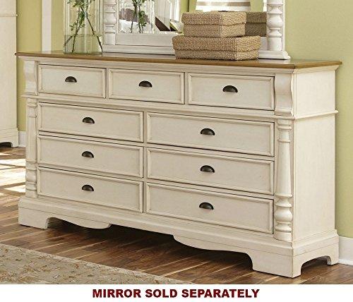 Rustic Nine Drawer Dresser (Coaster Home Furnishings Country Dresser, Oak and Buttermilk)
