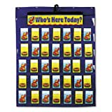 Carson-Dellosa Publishing Attendance/Multiuse Pocket Chart CHART,ATTENDANCE PCKT (Pack of5)