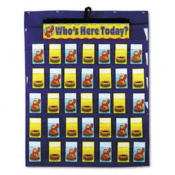 Carson-Dellosa Publishing Attendance/Multiuse Pocket Chart CHART,ATTENDANCE PCKT (Pack of5) by CARDEL