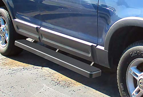APS iBoard (Black Powder Coated 5 inches) Running Boards | Nerf Bars | Side Steps | Step Rails for 2002-2005 Ford Explorer Sport Utility 4-Door