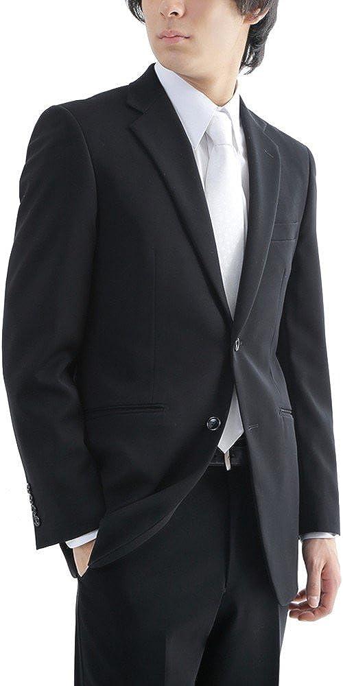 (ミユキエクストラブラック)御幸毛織 Extra Black ブラックフォーマル シングル 2つボタン 礼服 喪服 アジャスター(ウエスト調整) B074MR7H78 AB6 [ 着用目安:身長170-175cm/ウエスト88cm前後