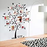 Toonol Large Size Family Photo Frame Tree Wall Sticker Stickers Home Decor Living Room Bedroom Decals