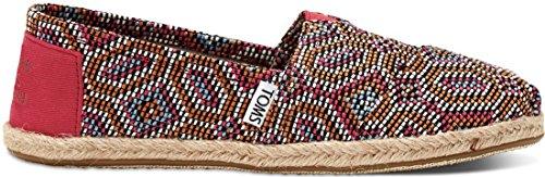 Toms Womens Classic Casual Shoe Pink Multi Tessuto / Corda