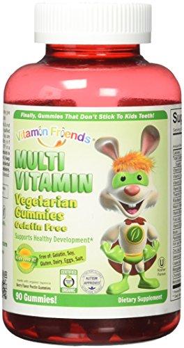 Vitamin Friends - Multi Vitamin Diet Supplement, Vegetarian Gummies That Don't Stick to Kids Teeth (Berry, 90 Count)