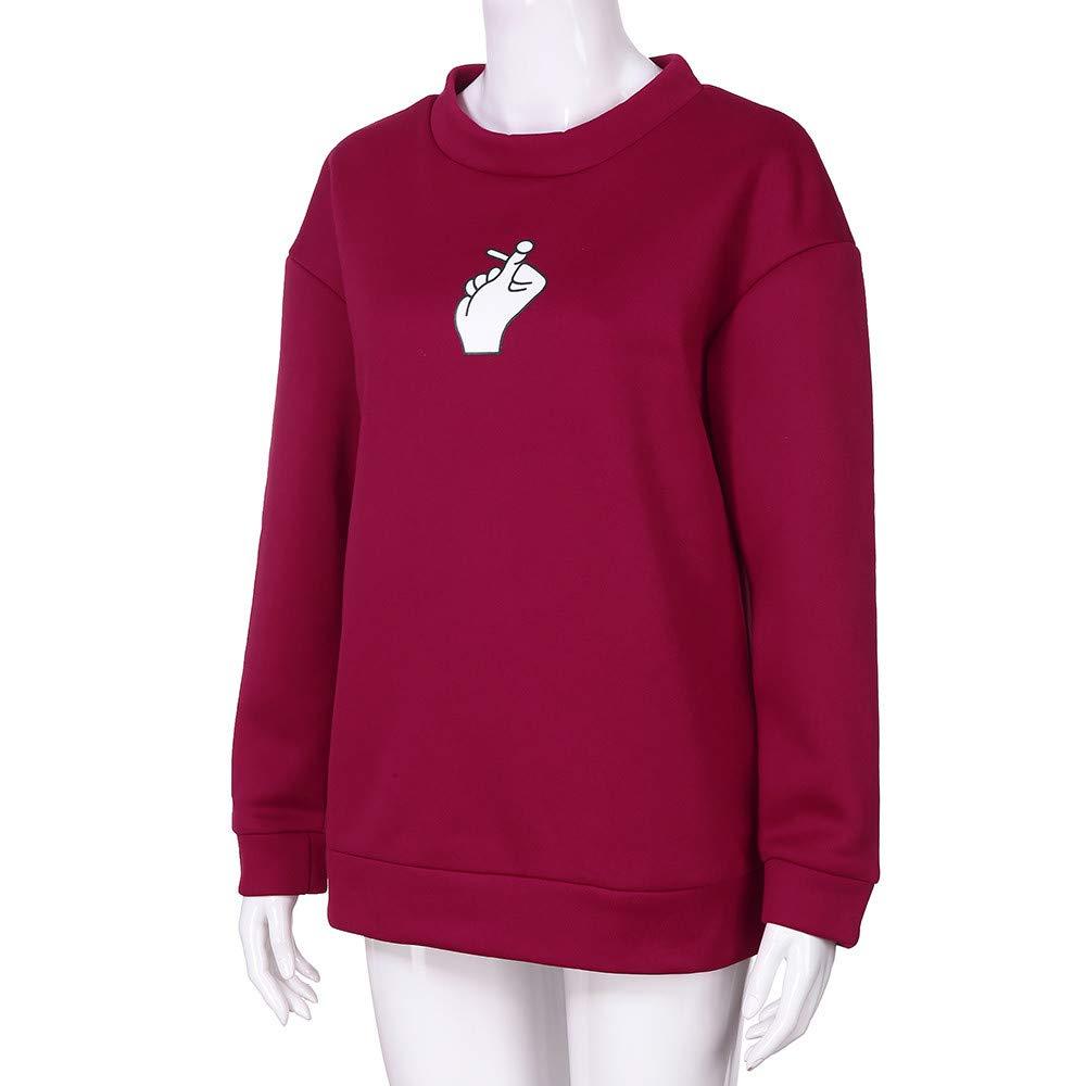 Women Autumn Fashion Long Sleeve Printed Sweatshirt Blouse Tops T Shirt